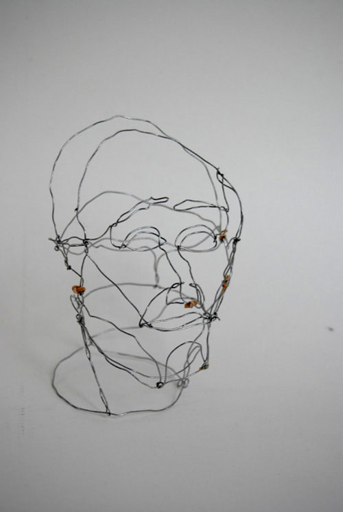 Drawing made with metal wire and elastic bands, 2008